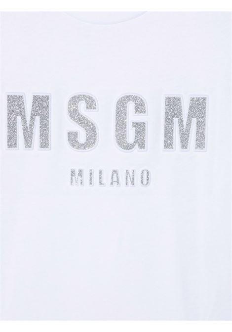 White t-shirt MSGM KIDS | T-SHIRT | 027706001