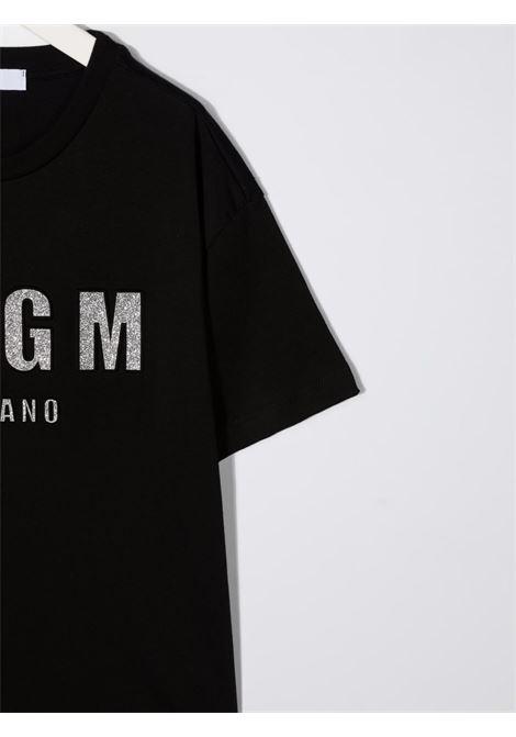 Black t-shirt MSGM KIDS | T-SHIRT | 027706110