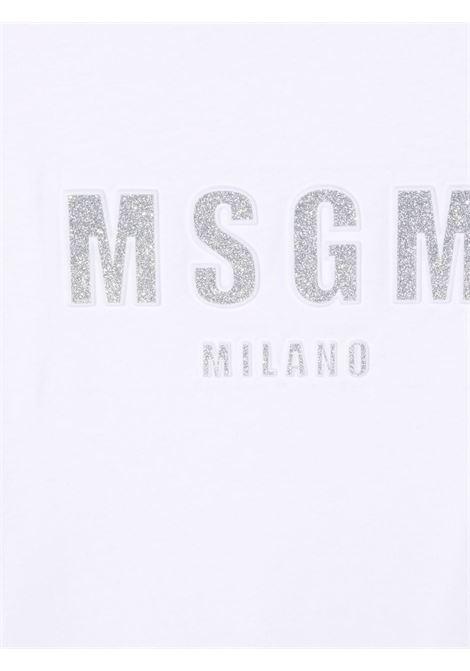 White t-shirt MSGM KIDS | T-SHIRT | 027706T001