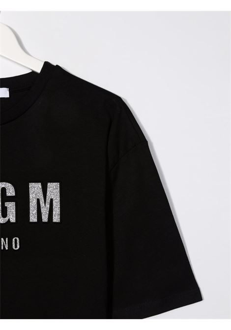 Black t-shirt  MSGM KIDS | T-SHIRT | 027706T110