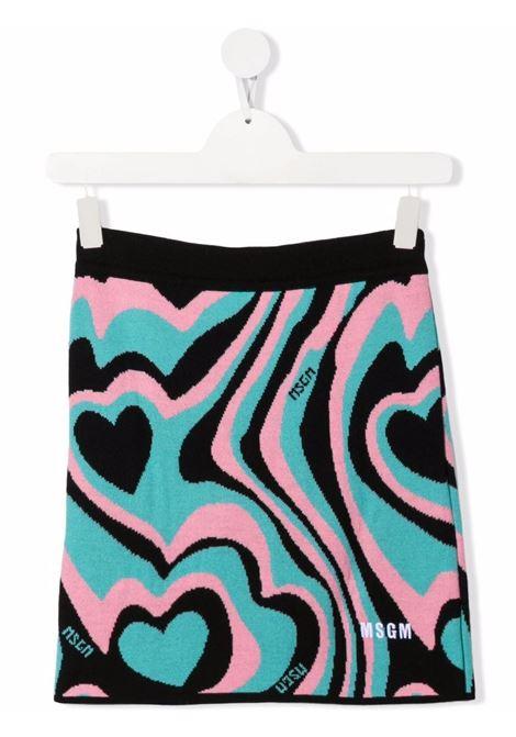 Multicolour skirt MSGM KIDS | 027749T200