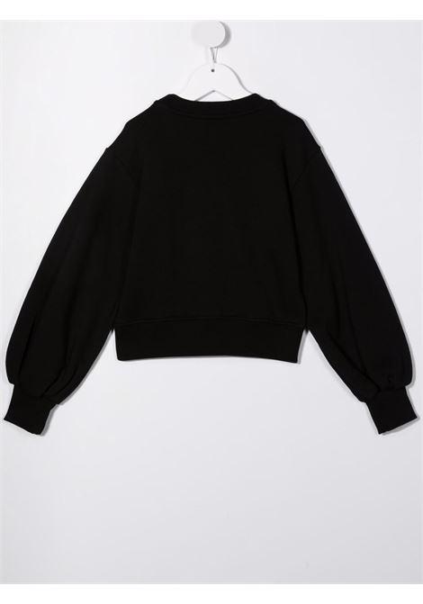 Black sweatshirt MSGM KIDS | 027793110