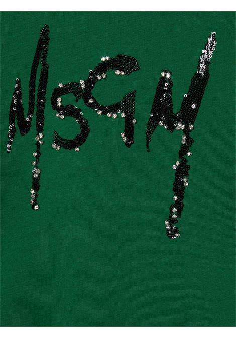 Green sweatshirt MSGM KIDS | 027793T080