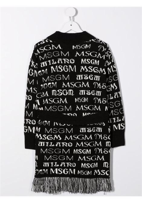 Black/white cardigan MSGM KIDS | 027796110