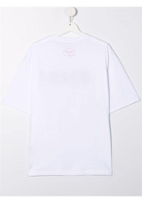 White t-shirt MSGM KIDS | T-SHIRT | 027814T001