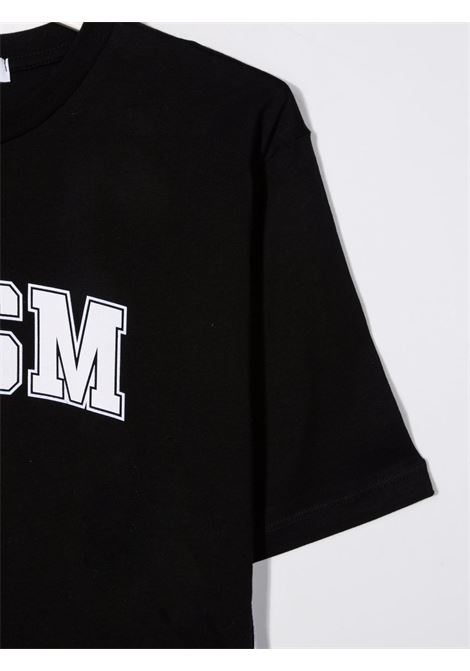 Black t-shirt  MSGM KIDS | T-SHIRT | 027840T110
