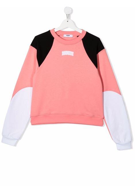 Pink/black sweatshirt MSGM KIDS | SWEATSHIRTS | 027844T07701