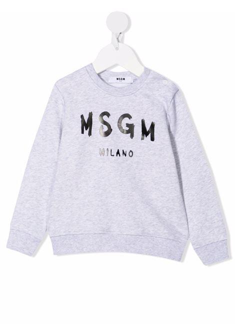 Felpa grigia MSGM KIDS | FELPE | 027872B107