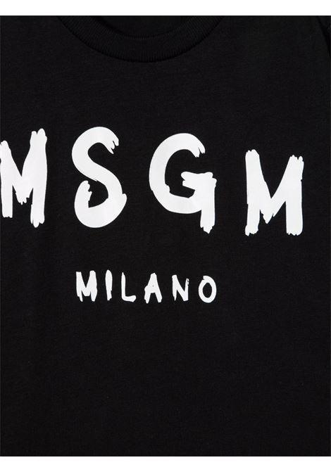 T-shirt nera MSGM KIDS | T-SHIRT | 027873110