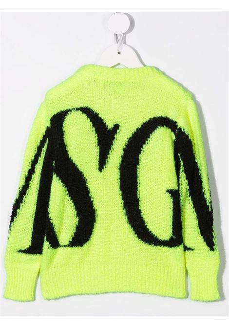 Maglione verde MSGM KIDS | 027910023