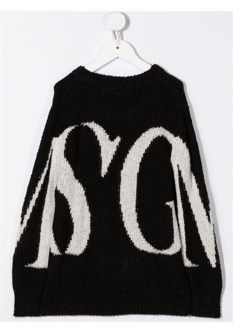 Maglione nero/bianco MSGM KIDS | 027910110