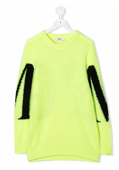 Maglione verde MSGM KIDS | 027910T023