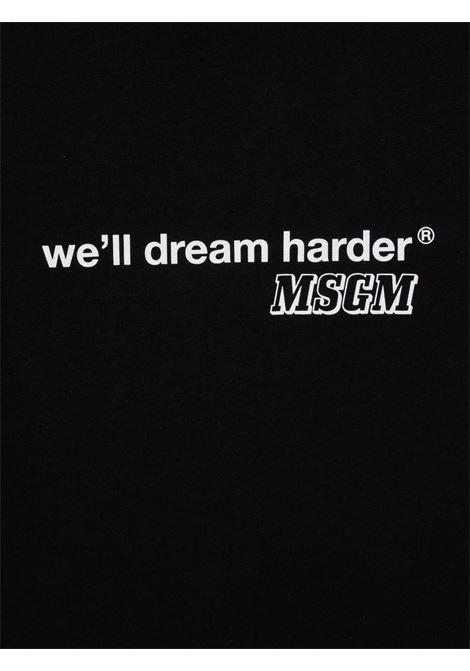 T-shirt nera MSGM KIDS | 027915T110