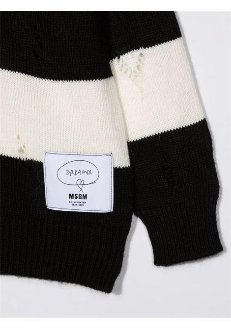 Maglione nero/bianco MSGM KIDS | MAGLIONE | 027917200