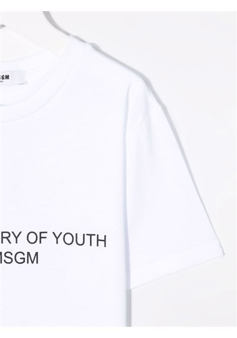 T-shirt bianca MSGM KIDS | 027951001