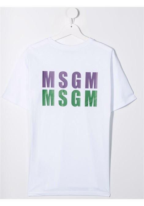 T-shirt bianca MSGM KIDS | 027951T001