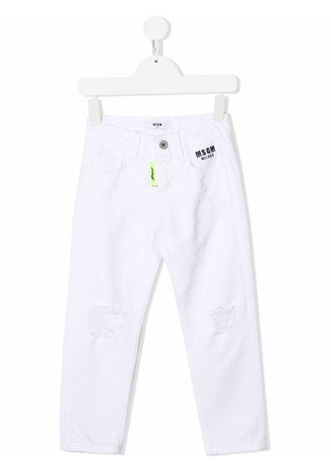 Jeans bianco MSGM KIDS | 028716125