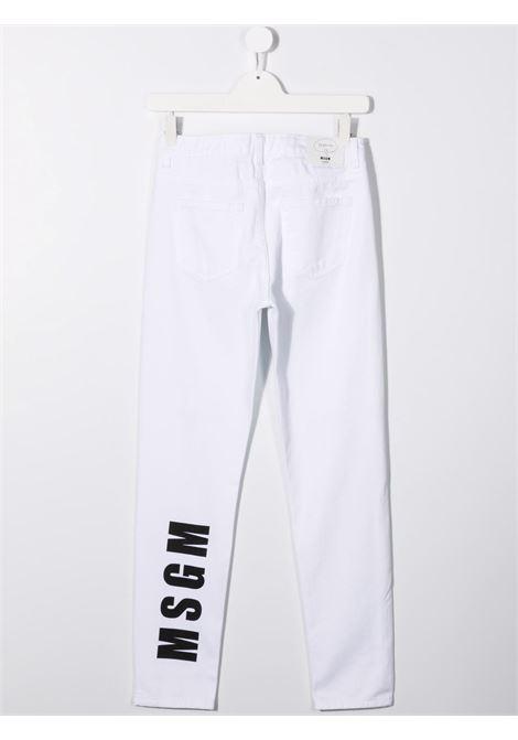 Jeans bianco MSGM KIDS | 028716T125