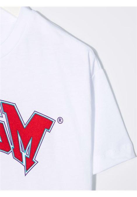 T-shirt bianca MSGM KIDS | T-SHIRT | 028717001