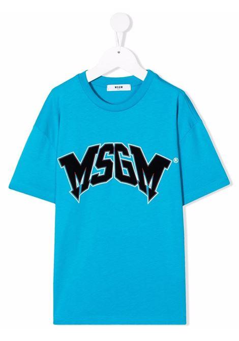 T-shirt azzurra MSGM KIDS | T-SHIRT | 028717120