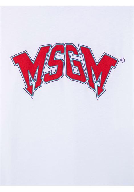 T-shirt bianca MSGM KIDS | 028717T001