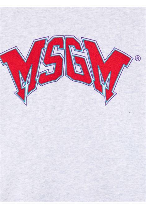Felpa grigia MSGM KIDS | 028718107