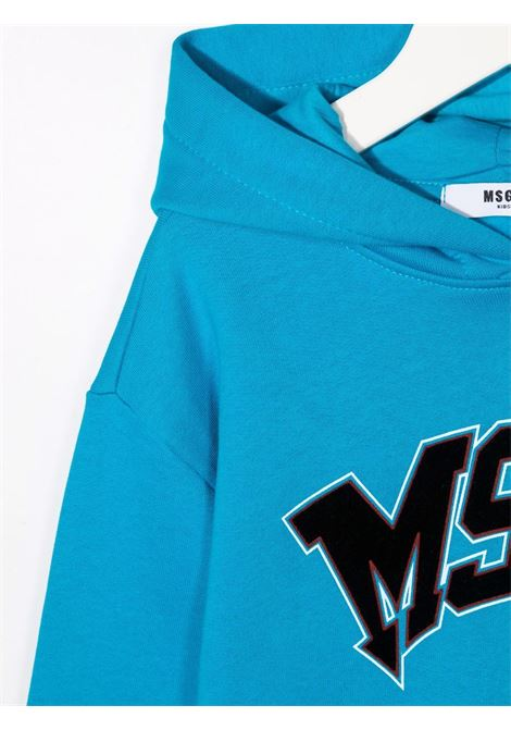 Felpa azzurra MSGM KIDS | 028718120