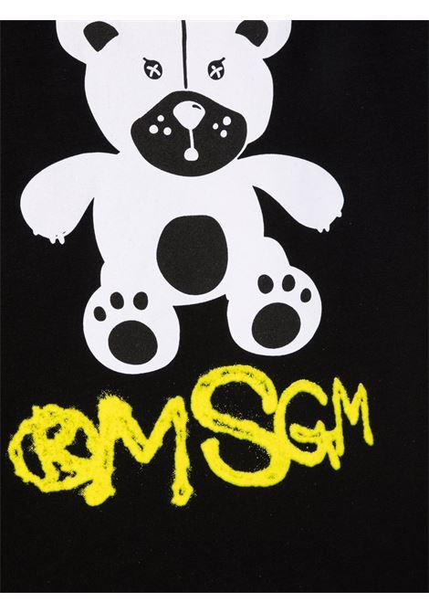 T-shirt nera MSGM KIDS | T-SHIRT | 028725110