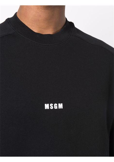 Felpa nera MSGM | FELPE | 2000MM50320000099