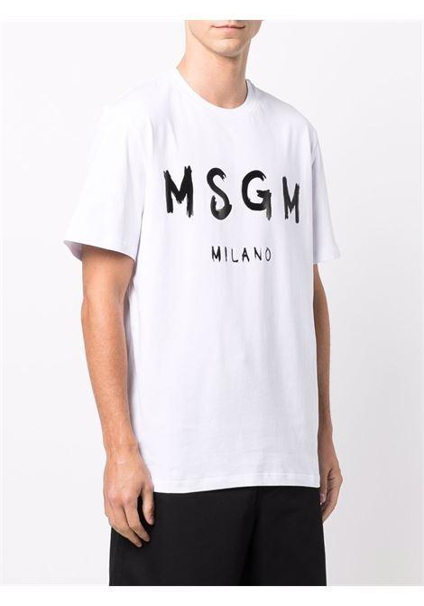T-shirt bianca MSGM   T-SHIRT   2000MM51020000201