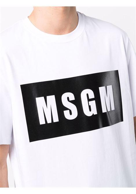 T-shirt bianca MSGM   T-SHIRT   2000MM52020000201
