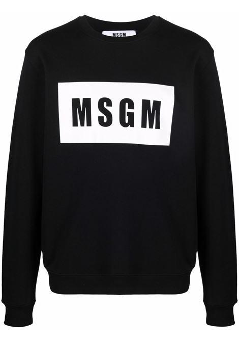 Felpa nera MSGM | FELPE | 2000MM52320000099