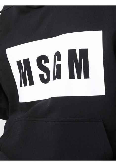 Felpa nera MSGM | FELPE | 2000MM52520000099