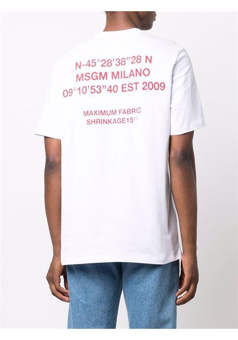 White t-shirt MSGM | 3140MM17721759801