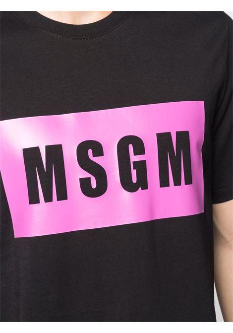 Black t-shirt MSGM | 3140MM52021759899