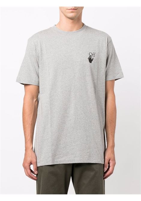 T-shirt grigia OFF WHITE | T-SHIRT | OMAA027F21JER0050810