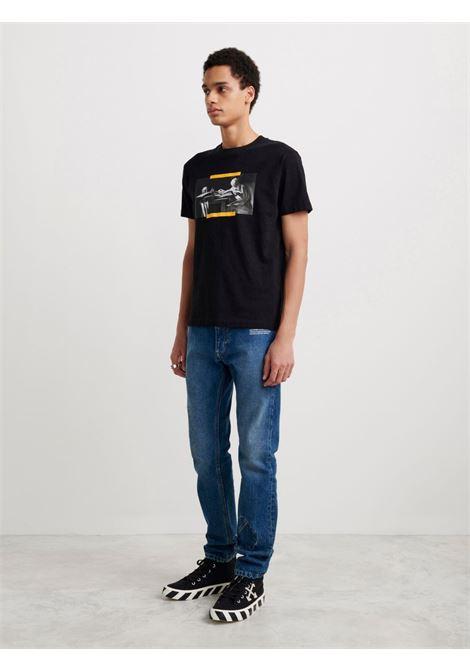 T-shirt nera OFF WHITE | T-SHIRT | OMAA027F21JER0141084