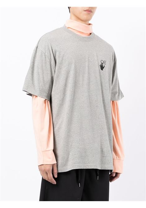 T-shirt grigia OFF WHITE | T-SHIRT | OMAA038F21JER0020810