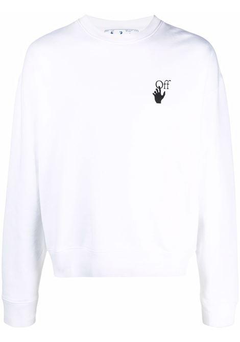 Felpa bianca OFF WHITE | OMBA035F21FLE0020110