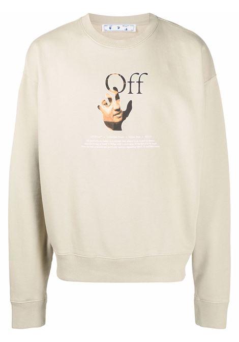 Beige sweatshirt OFF WHITE | OMBA035F21FLE0031784