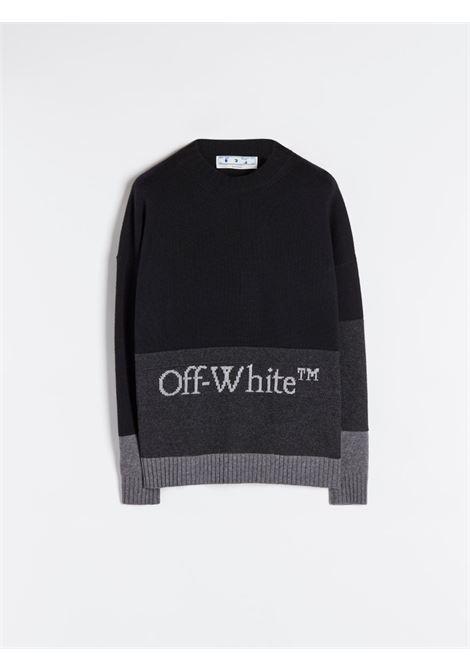 Maglia nero/grigia OFF WHITE | MAGLIE | OMHE048F21KNI0011001