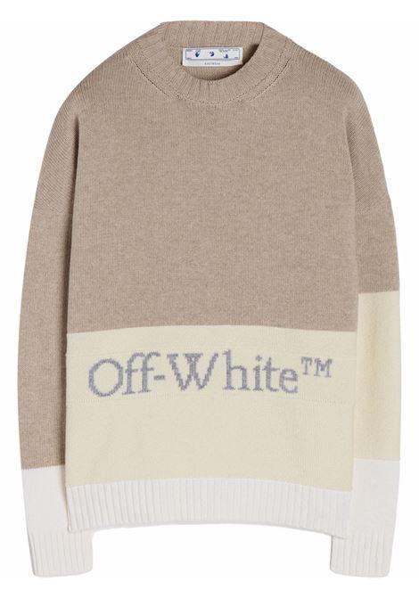 Maglione grigio/bianco OFF WHITE | OMHE048F21KNI0016105