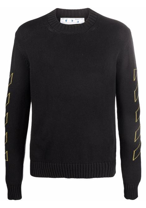 Black/yellow jumper OFF WHITE | OMHE087F21KNI0011055