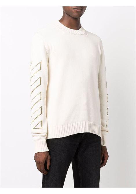 Cream jumper OFF WHITE | OMHE087F21KNI0016155