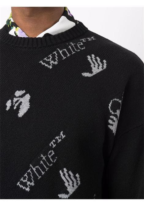 Maglione nero/grigio OFF WHITE | MAGLIONE | OMHE095F21KNI0011009