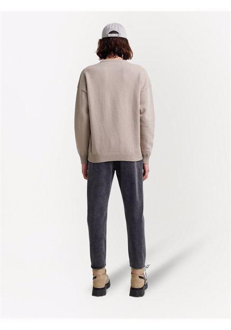 Maglione beige/bianco OFF WHITE | OMHE095F21KNI0011701