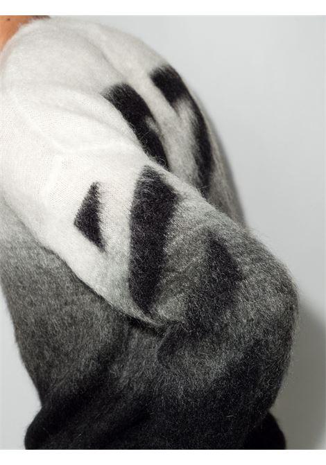 White/grey/black jumper OFF WHITE | OMHE098F21KNI0011010