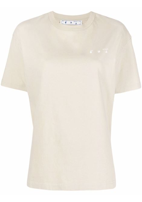T-shirt beige/bianca