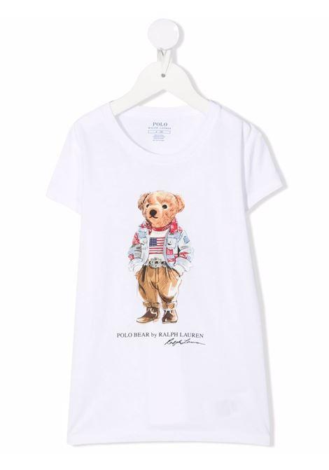 White t-shirt POLO RALPH LAUREN KIDS | 311850649001