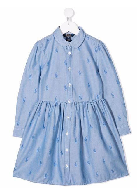Light blue dress POLO RALPH LAUREN KIDS | 312756657001